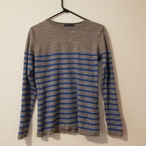 Patagonia gray/blue 100% merino wool sweater